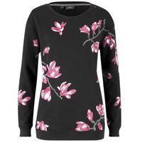 Bluza z kwiatowym nadrukiem bonprix czarny w kwiaty