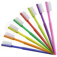 Wellsamed Wellsabrush szczoteczki jednorazowe z pastą do zębów o smaku miętowym - 100szt. - różne kolory