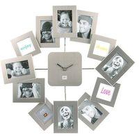 Zegar ścienny Family Time Waver silver by pt,