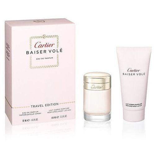 Baiser Vole zestaw woda perfumowana spray 50ml + krem do ciała 100ml - Cartier