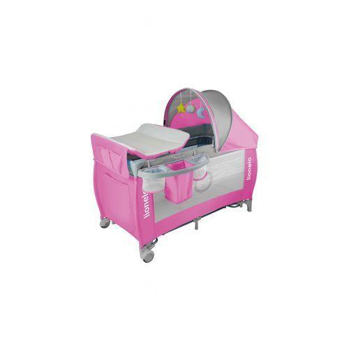 Łóżeczko turystyczne LO_SVEN PLUS pink/grey