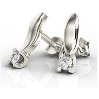 Kolczyki z białego złota z diamentami lpk-8108b marki Węc - twój jubiler