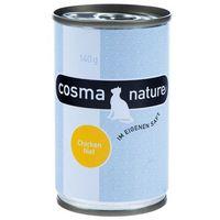 Cosma Nature, 6 x 140 g - Kurczak i ser