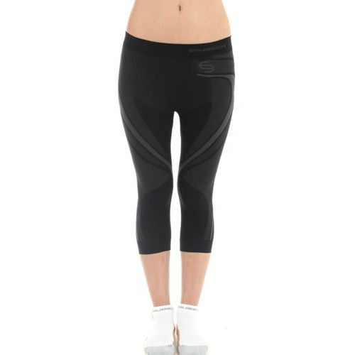Sp10310 spodnie damskie fitness 3/4 swift czarny Brubeck
