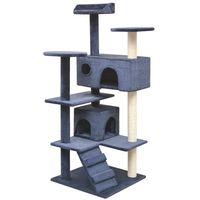 vidaXL Drapak dla kota z sizalowymi słupkami, 125 cm, granatowy (8718475522805)