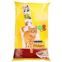 Friskies Cat Adult mięso, wątróbka, warzywa 10kg, 9321 (1919271)