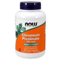 Minerały NOW Foods Chromium Picolinate 200mg 250 vcaps Najlepszy produkt