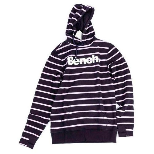 bluza BENCH - Her. Printed Stripe Corp Hoodie Essentially Navy (BL11341) rozmiar: M, kolor niebieski