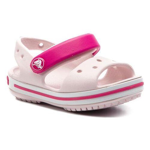 Crocs Sandały - crocband sandal kids 12856 barley pink/candy pink