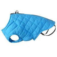kurtka pikowana dla psa z odblaskiem kolor niebieski różne rozmiary marki Chaba