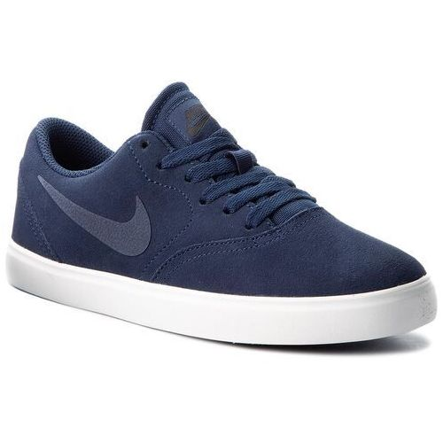 Nike Buty - sb check suede (gs) ar0132 400 midnight navy/midnight navy
