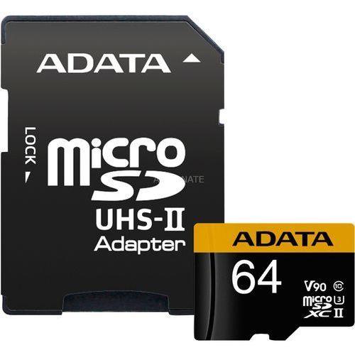 ADATA Premier ONE V90 64GB MicroSDXC UHS-II Klasa 10 pamięć flash (4712366968684)