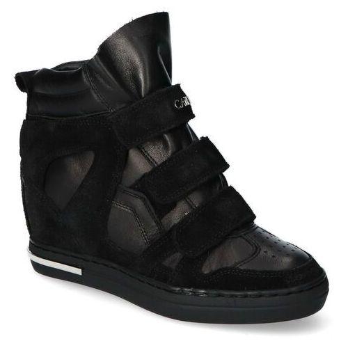 Sneakersy Carinii B5819-H20-E50 Czarne lico+zamsz, kolor czarny