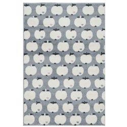 dywan dziecięcy bygraziela jabłko 120 x 180 cm, srebrnoszary/biały marki Livone