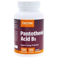 Jarrow Formulas Pantothenic Acid B5 (Kwas pantotenowy) - 100 kapsułek