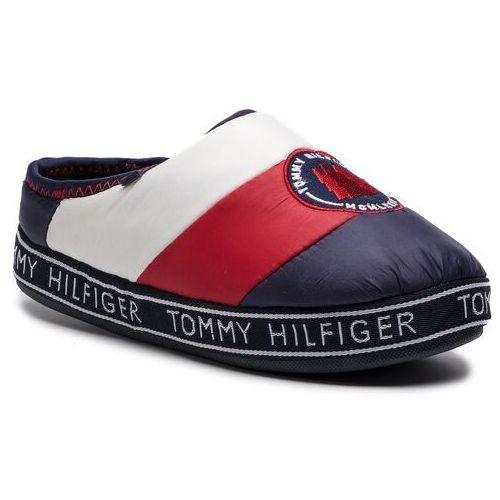 f936c28962a94 Kapcie TOMMY HILFIGER - Downslipper Patch FW0FW04182 Rwb 020