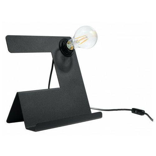 Lumes Czarna futurystyczna lampka biurkowa - ex562-inclino
