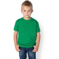 Koszulka dziecięca (bez nadruku, gładka) - zielona, kolor zielony
