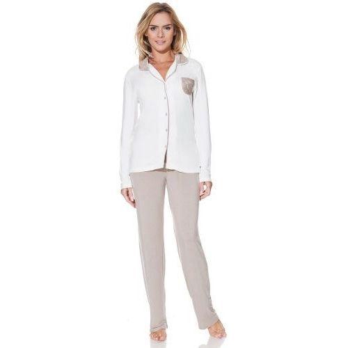 53915ee750ac8d Damska bambusowa piżama claudia s kremowy / srebrny marki Luisa moretti -  Foto produktu ...