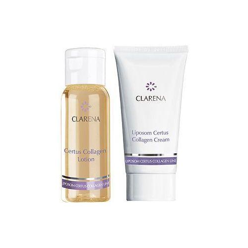 Clarena certus collagen mini set mini zestaw mini kosmetyków lotion i krem