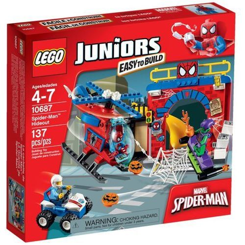 Lego JUNIORS Kryjówka spidermana 10687