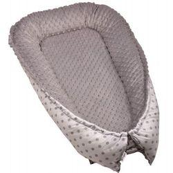 T-tomi gniazdko niemowlęce MINKY, White grey dots