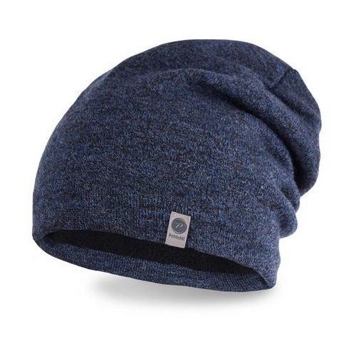 Zimowa czapka męska - granatowa mulina - granatowa mulina marki Pamami