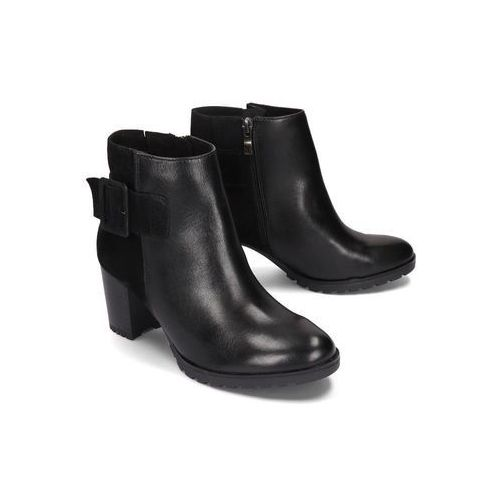 25432-23 019 black combination, botki damskie marki Caprice