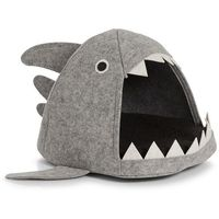 Domek dla kota - legowisko shark, filcowy, szary, 45x38x32 cm, marki Zeller