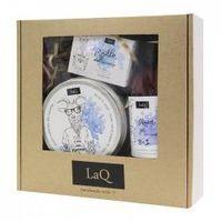 LaQ, zestaw prezentowy męski - peeling, mydełko i żel