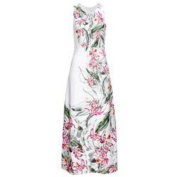 Bonprix Sukienka żakardowa jasny brzoskwiniowy