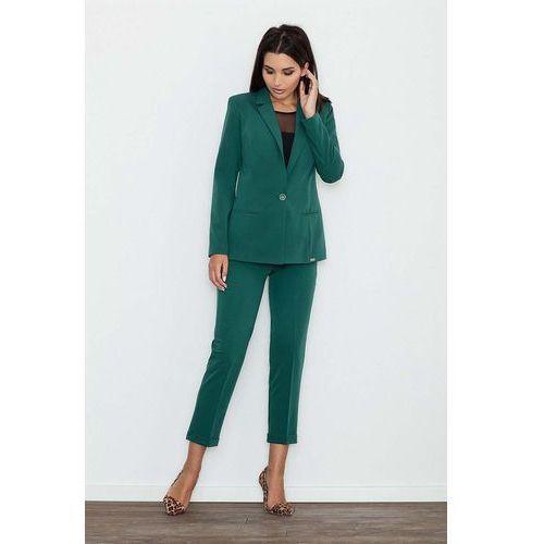 Zielone Spodnie 7/8 w Kant z Mankietem, w 4 rozmiarach