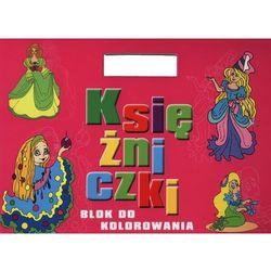 Olesiejuk Księżniczki blok do kolorowania z naklejkami