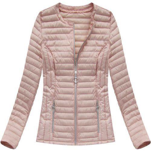 Krótka pikowana kurtka łososiowa (21817) różowy, Dream
