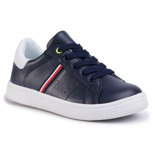 Tommy hilfiger Sneakersy - low cut lace-up sneaker t3b4-30709-0621 m blue/white x007