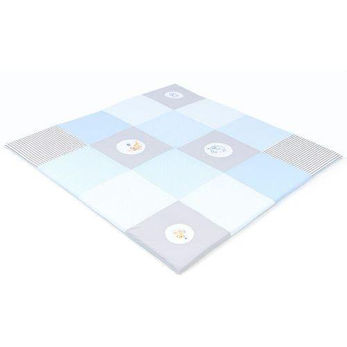 MAMO-TATO Mata podłogowa do raczkowania dla dzieci 160x160 Błękitna