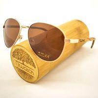 Drewniane okulary przeciwsłoneczne Niwatch Musca Brown