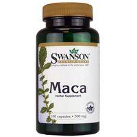 Kapsułki Swanson MACA 60 kaps. 80116 Potencja Wzrost Libido