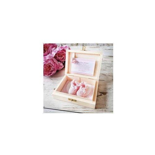 Oms Podziękowanie dla chrzestnych różowy wózek