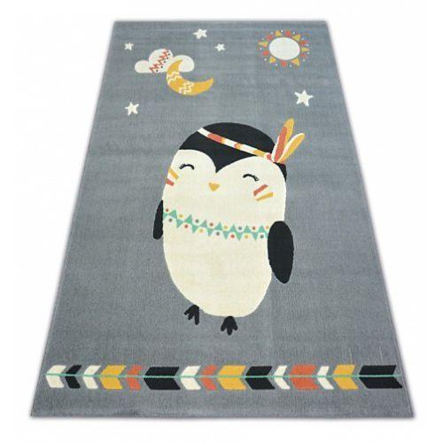 Dywan Dziecięcy Komfort Pastel 18401073 Pingwinek Szary Roomzone
