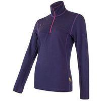 Sensor Merino Upper bluza damska Zip Purple L