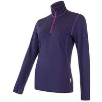 Sensor Merino Upper bluza damska Zip Purple M