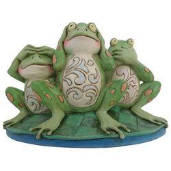 """Trzy mądre żaby """"nie widzę nic złego, nie słyszę nic złego, nie mówię nic złegocroak no evil 4047051 figurka ozdoba świąteczna marki Jim shore"""