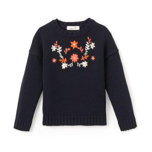Haftowany sweter 3-12 lat La redoute collections