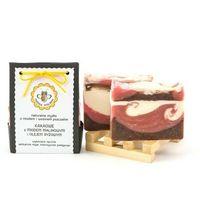 mydło naturalne Kakaowe z Miodem Malinowym i Olejem Ryżowym - Miodowa Mydlarnia