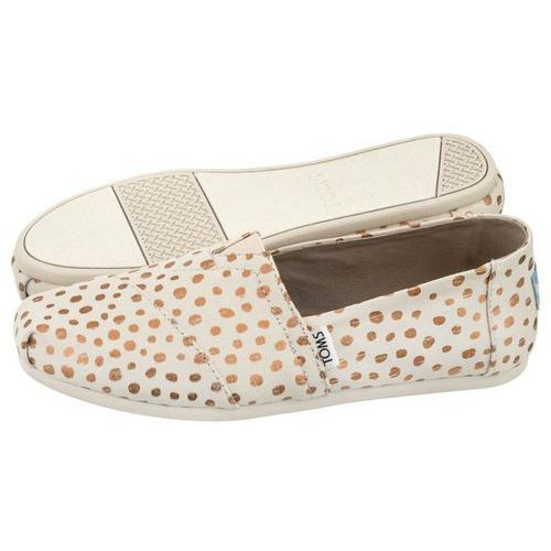 Espadryle Toms Classic Rose Gold/Natural Canvas Dots(TS7-b), kolor beżowy