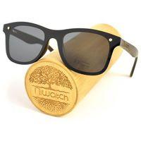 Drewniane okulary przeciwsłoneczne Niwatch Orion Black