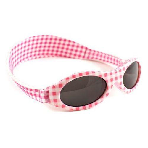 Okulary przeciwsłoneczne dzieci 2-5lat UV400 BANZ - Pink Check (9330696003780)