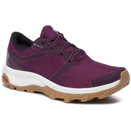 Shoes SALOMON Outbound Gtx W GORE TEX 407918 20 V0 Potent PurpleWhiteGum1A