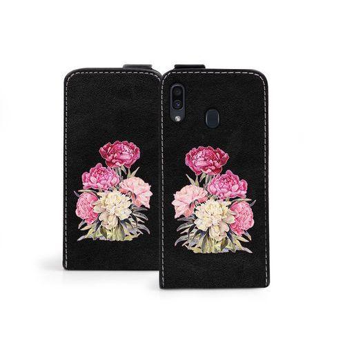 Samsung Galaxy A30 - etui na telefon Flip Fantastic - różowy bukiet, ETSM887FLFCEF012000